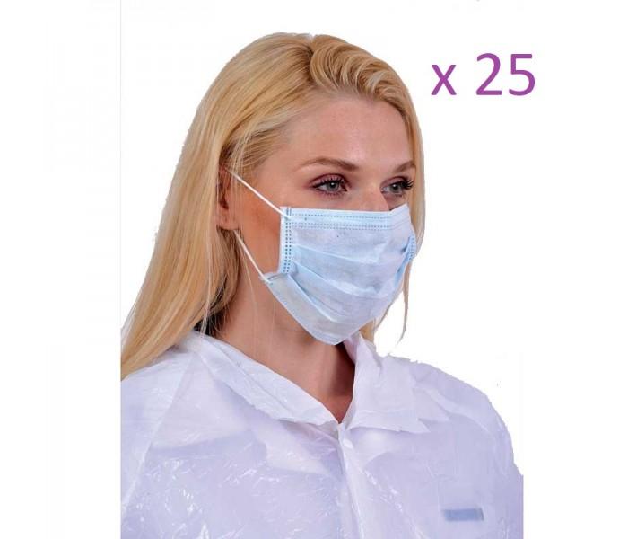 Χειρουργικές Μάσκες Προστασίας Προσώπου ΣΕΤ 25 ΤΕΜΑΧΙΩΝ